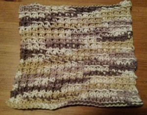 Dishcloth-Bamboo Stitch