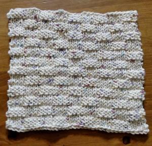 Dishcloth-Basketweave