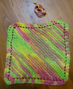 Dishcloth-DiagonalGarter